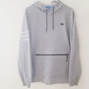 Adidas hooded sweatshirt zippered front pocket